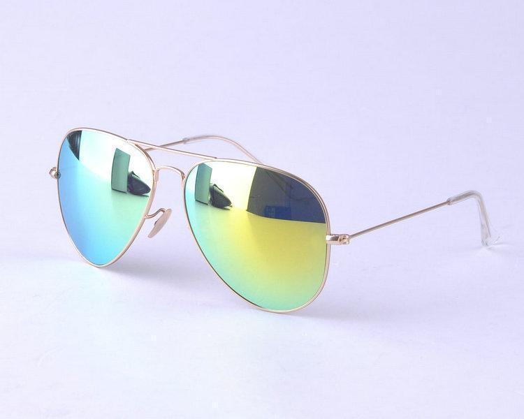 FreeshippingTop 2013 Grüne Metall Sonnenbrille Flyer Männer Luxus-Marke Designer Sunglasse Frauen Spiegel Sonnenbrille Für Mode Haus