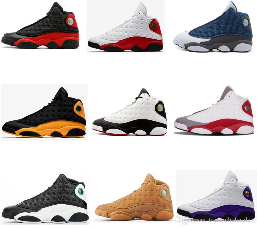 Erkekler Kadınlar 13 Ters He Got Game Ada Yeşil Bred Chicago Flint Basketbol Ayakkabı 13s Melo DMP Playoff Hiper Kraliyet Sneakers