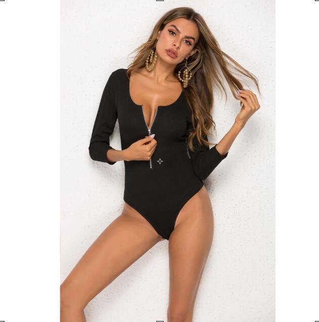 2019 летней женщины Комбинезоны Sexy Bodycon Полиэстер Шорты Брюки с молнией для женщин вскользь Skinny Женской ползунки одежды S-XL