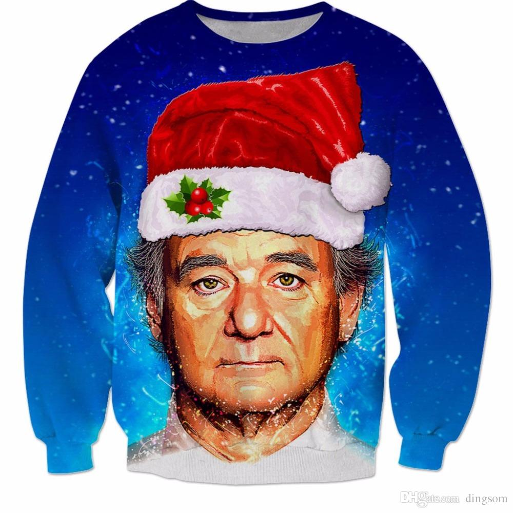 Bill Murray Christmas Sweatshirt New arrival funny Christmas clothing high quality jumper Unisex long sleeve casual tops gift