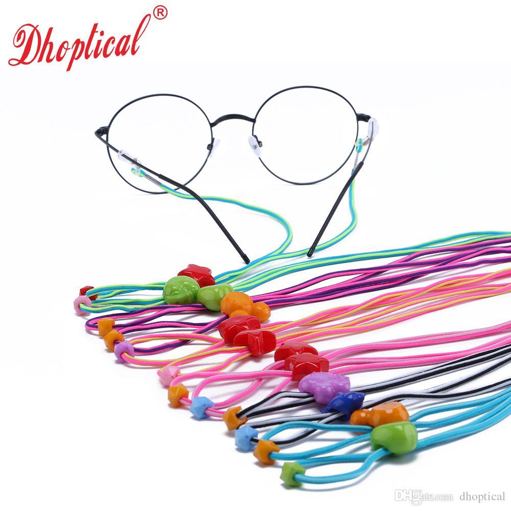 이중 만화 사슬, 아이들을위한 안경 코드, 안경 스프링 체인, 도매 120pcs 믹스 컬러 안경 액세서리 안경 무료 배송