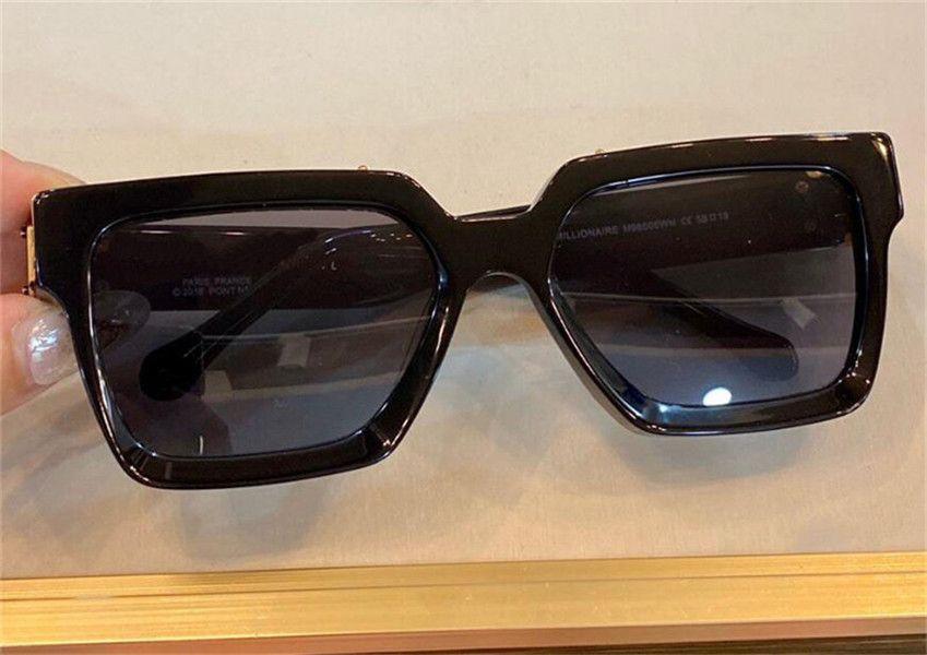 جديد الرجال تصميم نظارات 96006 مربع إطار خمر لامعة الذهب الصيف uv400 عدسة نمط الليزر أعلى جودة 1165