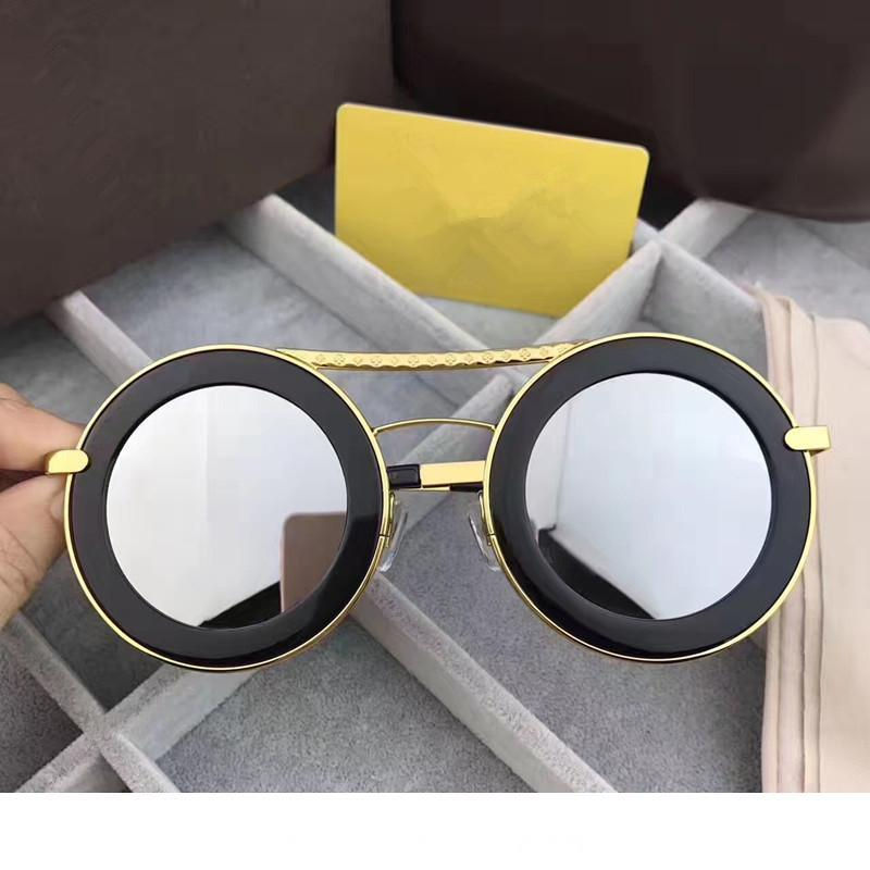 Z0907 Men Women Brand Sunglasses Fashion Round Sunglasses UV Protection Lens Coating Mirror Lens Frameless Color Plated Frame Come With Box
