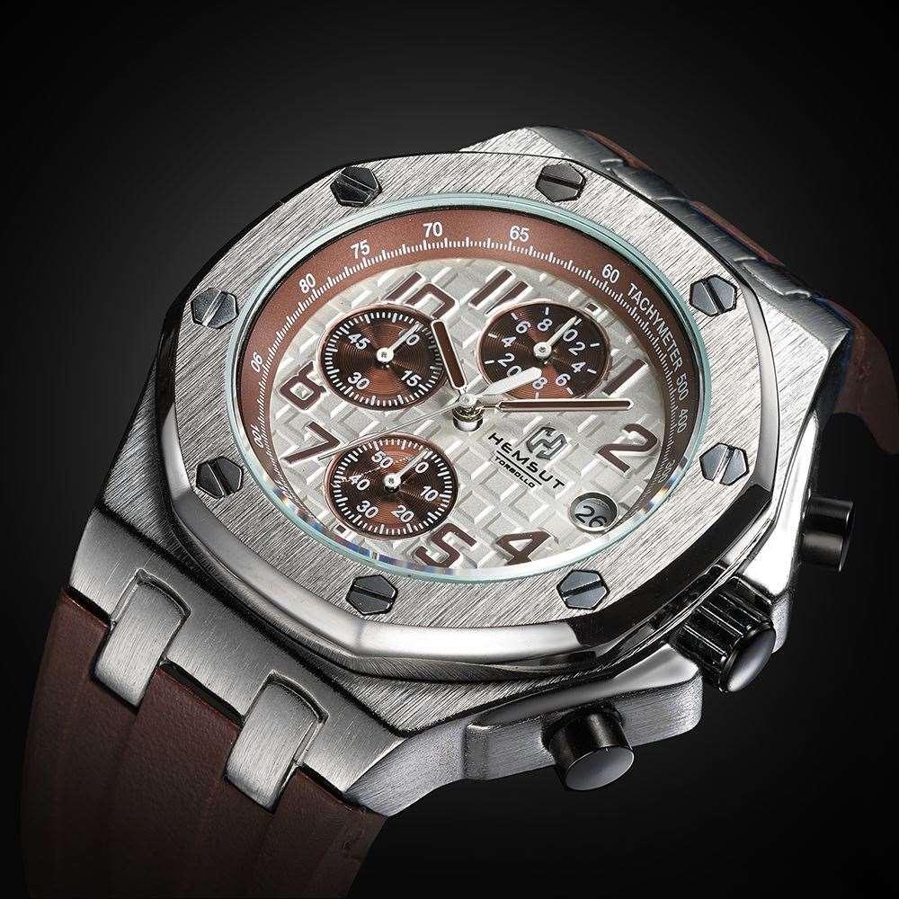 Brand New Gold Men Watch Men Luxury Quartz Watch 3ATM Water Resistant Quartz Wrist Original Men 's Watches for Big Wrists