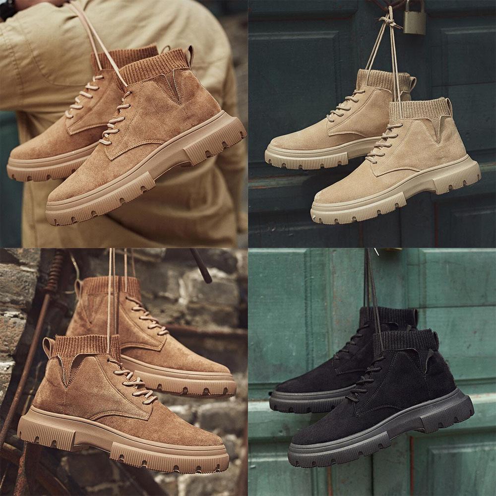 2020 Mujeres al aire libre militar calcetines de los hombres de los deportes de invierno de la lona transpirable de alta superior Senderismo Martin Botas
