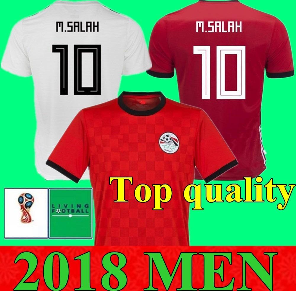 2018 월드컵 이집트 홈 어웨이 축구 저지 이집트#10M. 살라 축구 셔츠 홈 어웨이 레드 축구 유니폼 판매