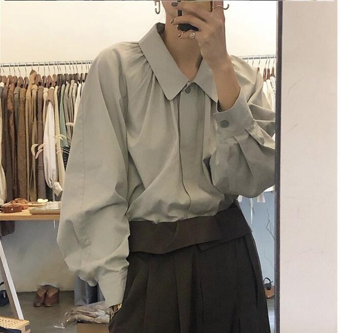 Coreano estilo de moda 2020 Primavera New Blusa Mulheres camisa de manga longa escritório fêmea elegante Shirts Senhora Blousa Outfits