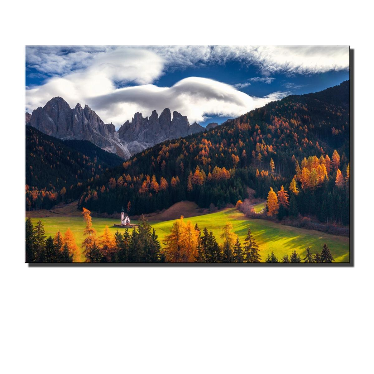 "12/""x18/""Snow Mountain Landscape HD Canvas prints Painting Home Decor Wall art"