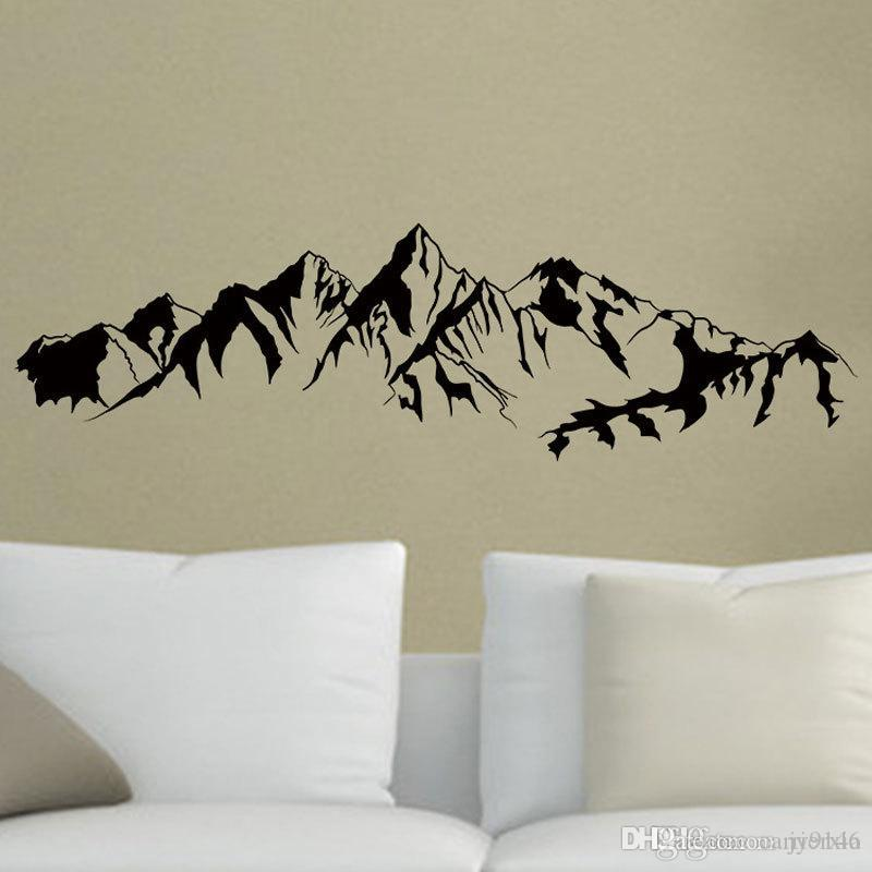 Mountain Wall Decal Vinyl Self Adhesive Removable Travel And Adventure Wall Art Sticker For Living Room And Bedroom Nursery Decor From Carrierxia 3 51 Dhgate Com