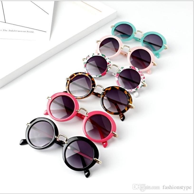 أطفال ريترو الشمس ظلال الرضع نظارات نظارات مكبرة بنين بنات أطفال جولة نظارات نظارات 6 اللون