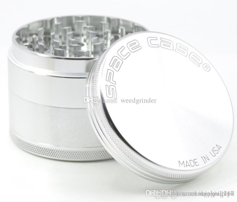 55 millimetri 63 millimetri Grande smerigliatrice alluminio rivelatore caso spazio smerigliatrice fumo di sigaretta fumo di tabacco macinazione smerigliatrice Fit Dry dell'erba