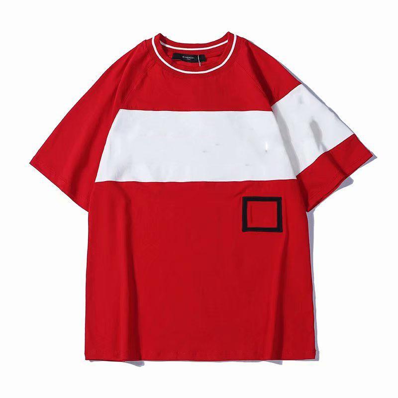Camicia di lusso Mens ricamo contrasto Patchwork Tshirt 2019 Nuovo Mens Designer T Shirt Moda Uomo Abbigliamento manica corta Tee e Shorts