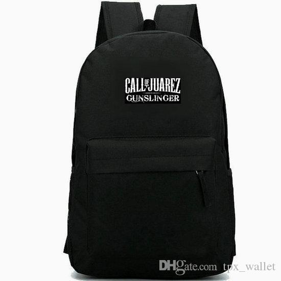 Call of Juarez backpack The Cartel daypack Shoot schoolbag Game badge rucksack Sport school bag Outdoor day pack