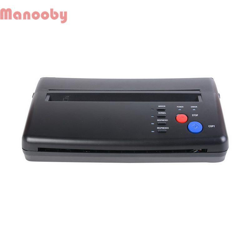 Transferencia Manooby la máquina del tatuaje dibujo copiadora impresora térmica creador de plantillas del papel de transferencia permanente de alimentación del tatuaje máquina del arte