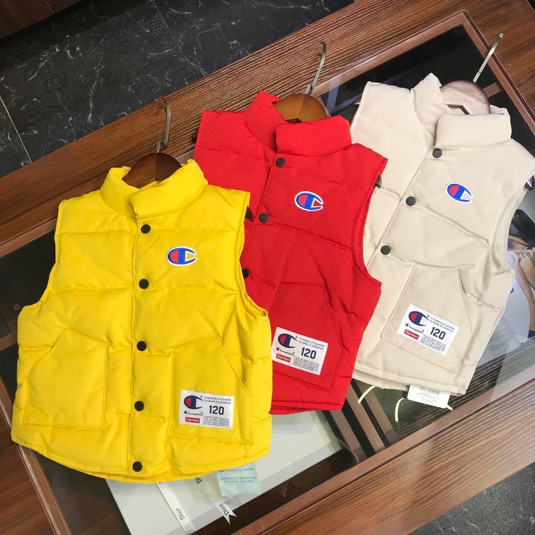 yelek çocuk giyim tasarımcısı erkek ve kız kış moda yeni tam kaz tüyü Çocuklar aşağı yelek dört renk doldurdu