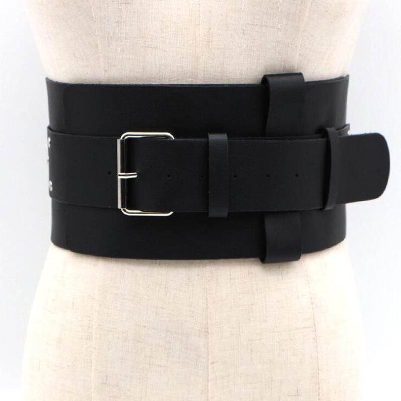New Double Layer Wide Belts For Women Ladies 2018 Fashion Designer Up Leather Cool Waist Waistband Womens Belt C19041101