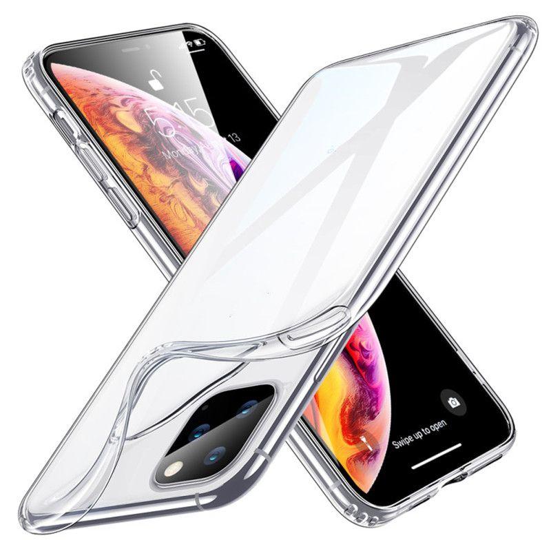 2020 Crystal Gel Phone Case Ultra Fino Transparente TPU Cobertura Clear para iPhone 12 Mini 11 Pro Max X XS XR 8 7 PLUS SE