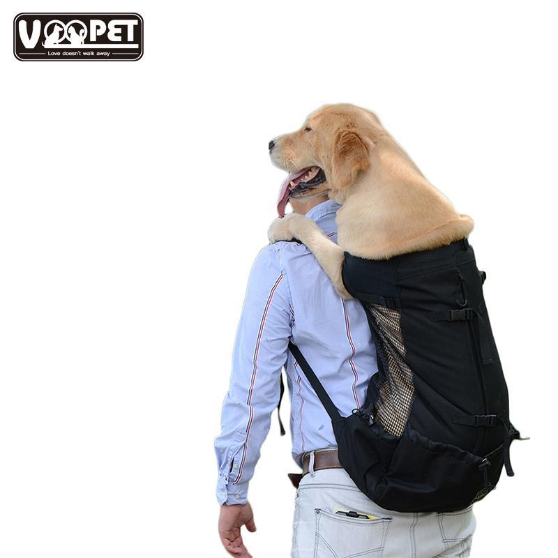 الحيوانات الأليفة الكلب الناقل حقيبة قابل للتعديل أكياس السفر الكلب الكبيرة للكلاب الكبيرة تنفس الذهبي المسترد حقيبة الحيوانات الأليفة المنتجات