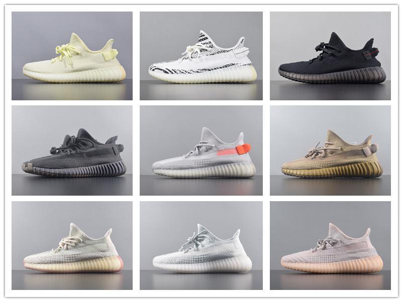 2020 Hot Sale Gid Brilho Antlia estática Preto Verdadeiro Form argila Top Mens Qualidade Running Shoes Kanye West V2 Womens Sneakers Atletismo