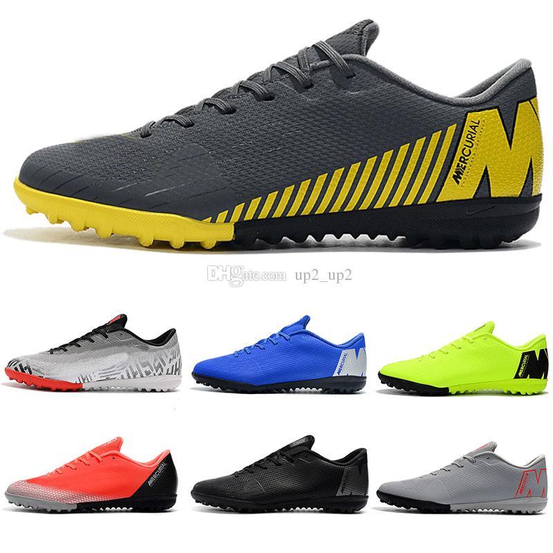 Мужские футбольные бутсы с низкой лодыжкой футзал Mercurial VaporX VII Pro IC TF Уличная обувь Neymar SuperflyX CR7 Крытый газон Футбол