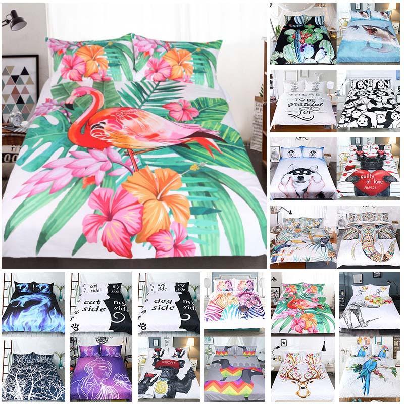 3D-gedruckte Bettwäsche-Sets 3pcs / set Luxus-Bettbezug Kissen- Start Bedding Supplies Textilien Weihnachten Dekorative 45 Stil XD21459