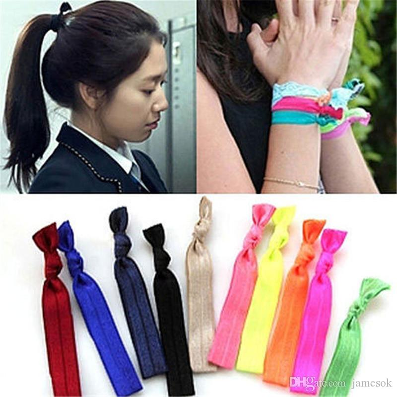2.014 vezes ao longo laços de cabelo elásticos pulseira pulseiras de rabo de cavalo titular baby girl Acessórios de cabelo bebê menina headband BD0017
