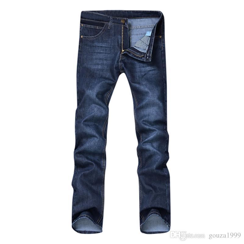 vaqueros para hombre cupo los pantalones vaqueros delgados clásicos masculinos pantalones vaqueros de mezclilla de diseño pantalones flacos rectos Elasticidad Pantalones Casual Pure