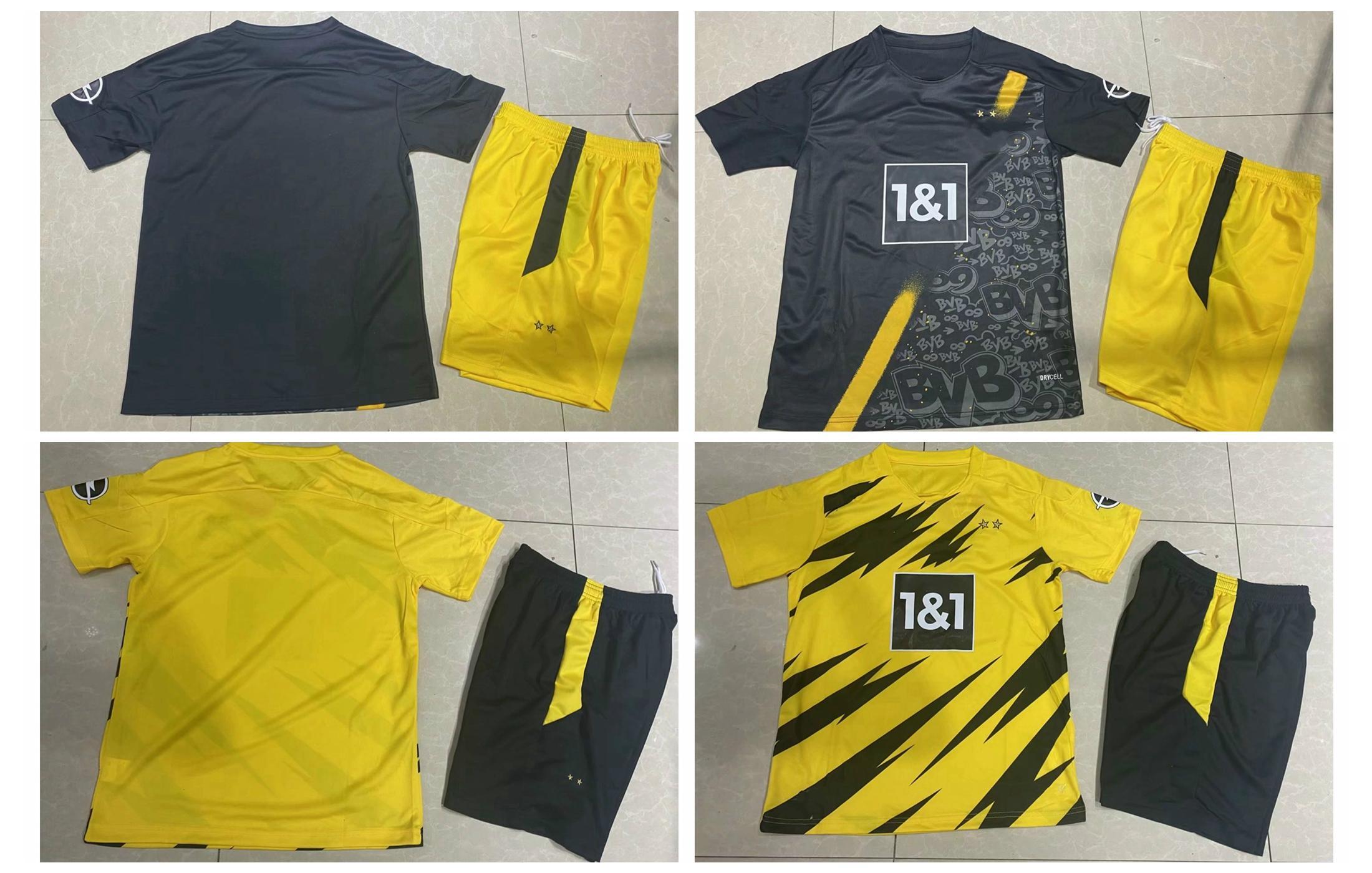 10 PIECE DHL FREE 2021 ADULT KIT 2020 CAMISETAS DE HAZARD REUS Haaland SANCHO MEN SETS uniform
