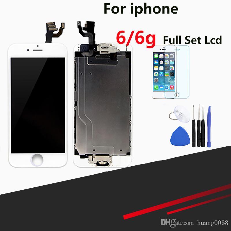 Qualidade superior lcd para iphone 6 assembléia assembléia tela de substituição de tela cheia com botão home e câmera