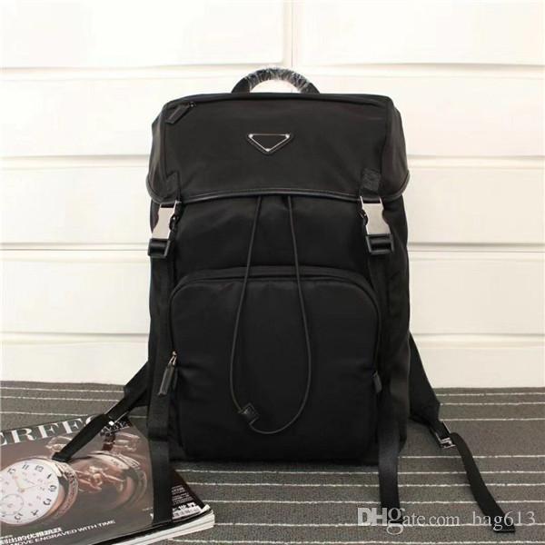 Neoklassischen Art und Weise BZ135 Größe 45cm 27cm 17cm Retro-Stil Luxus Leinwand Leder Rucksack Designer höchste Qualität Rucksack