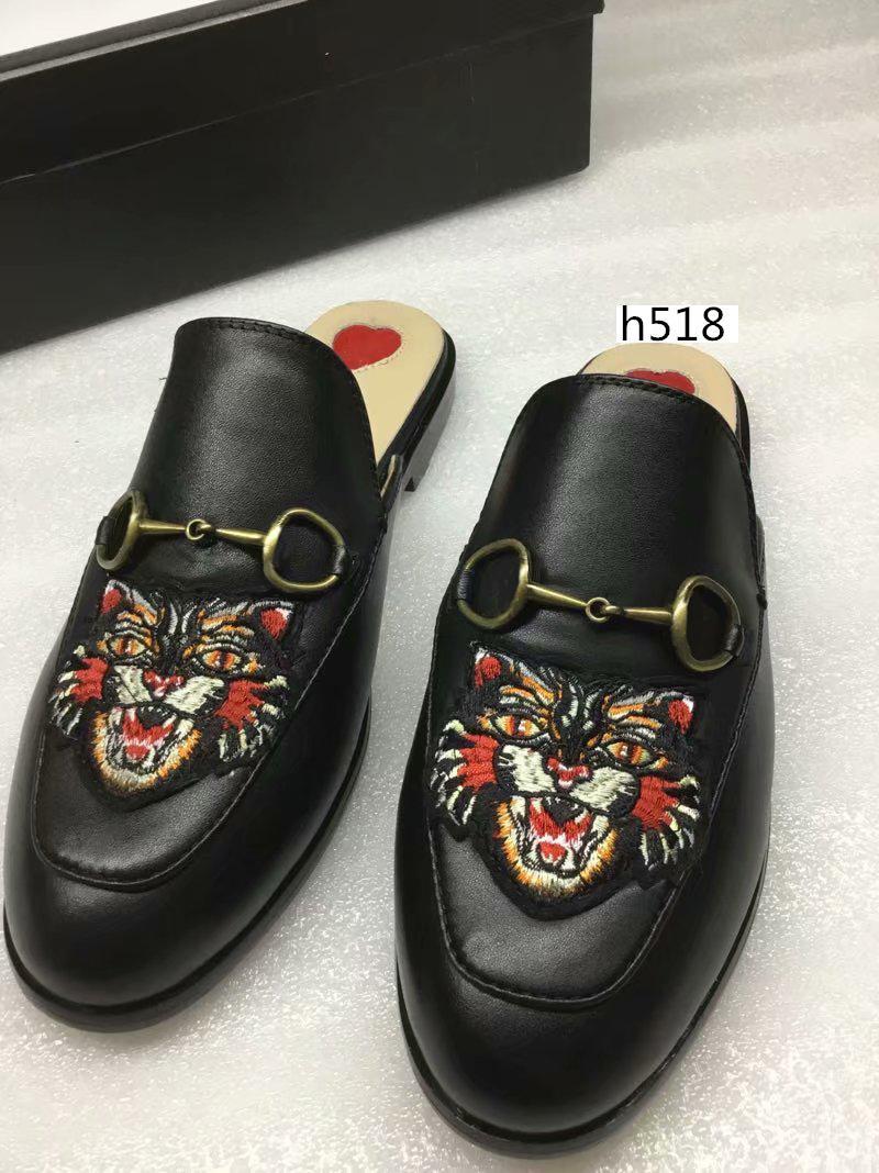 New venda mulas Princetown designer clássicos escorregadia fivela de metal chinelos de praia sapatos amantes macios alta quality4