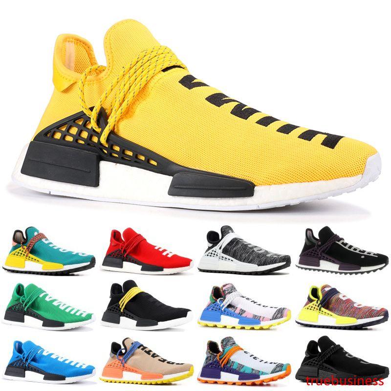 2019 Human Race TR Hombres Zapatillas para correr Pharrell Williams Razas humanas Pharell Williams Hombres para mujer Zapatillas deportivas Diseñador Zapatillas 36-45