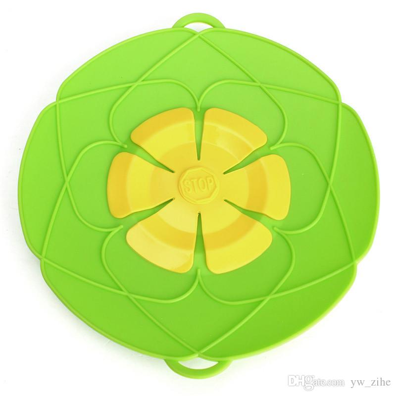 Silicone lid Spill Stopper Cover For Pot Pan Kitchen Accessories Cooking Tools Flower Cookware Kitchen Gadgets wh1047
