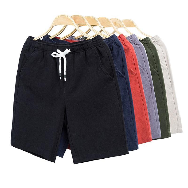 Pantalones cortos para hombres S-6XL TALLER PLUS TABETOS MUJER DE HOMBRE DE ALTA CALIDAD PLAYA DE MODA DE ALGODÓN CASUAL BODYBUILDING TRUNGS MÁS DE BAÑO DE BAÑO