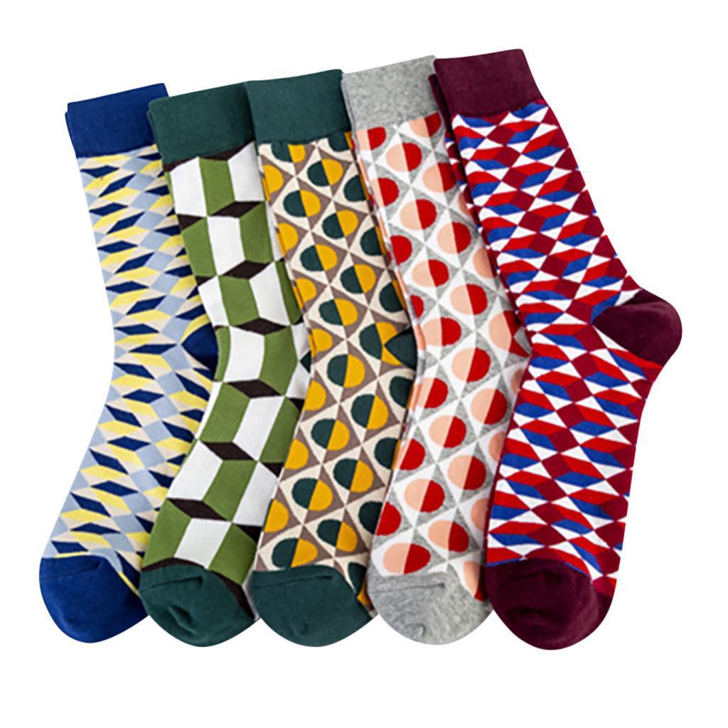 Christmas Colorful Combed Cotton Socks Shark Skull Pattern Long Tube Happy Men Socks Novelty Skateboard Crew skateboarding Socks