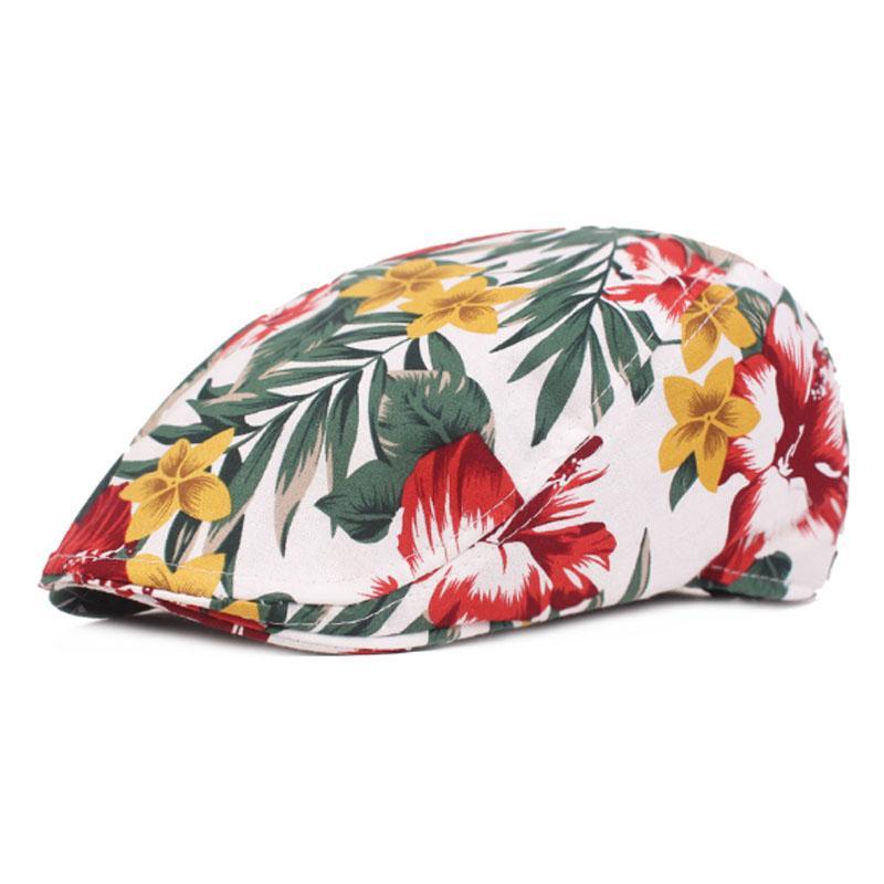 RoxCober Summer womens Flowers Beret cap outdoor travel solid Gatsby Cap Ivy Hat Driving Flat Cabbie Newsboy Cap Visors