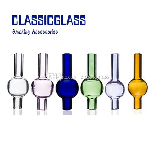 Bouchon en verre à bulles pour bouchons thermiques Enail Tube en verre OD 20mm pour vente coloré