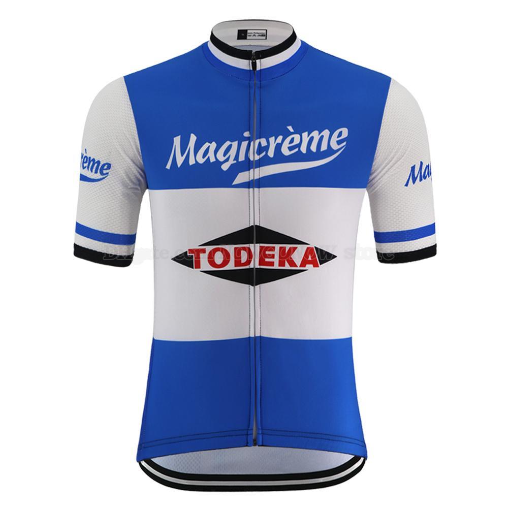 여름 레트로 사이클링 저지 팀 남자 짧은 소매 도로 경주 자전거 마모 의류 편안한 통기성 자전거 의류 자전거 셔츠 프로
