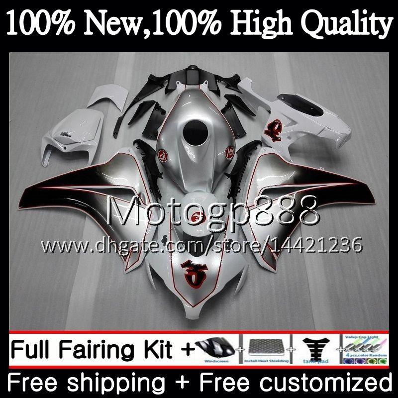 Iniezione per HONDA CBR1000 RR 08 11 CBR1000RR 08 09 10 11 42PG16 New Silver CBR 1000 RR CBR 1000RR 2008 2009 2010 2011 Carenatura Carena