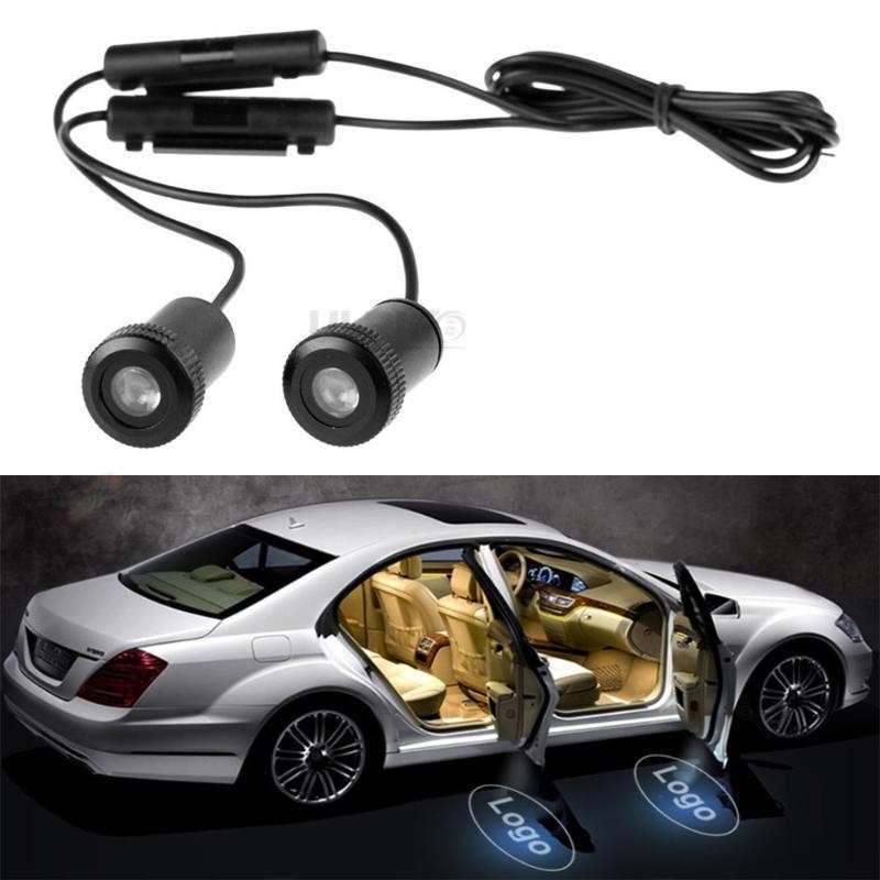 2PCS СИД двери автомобиля приветствовать свет любезно водить автомобиль лазерный проектор Призрак Shadow Light Для SAAB HUMMER Embleme