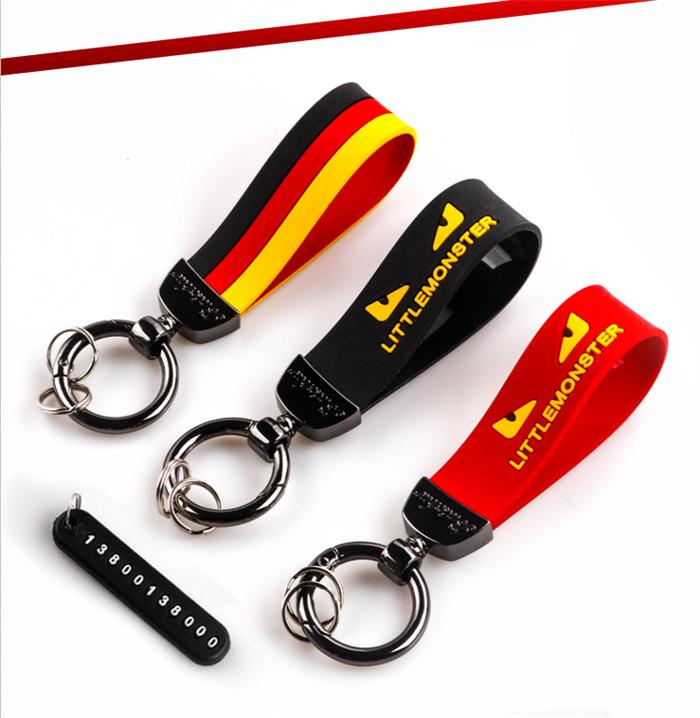 Heißer Verkauf neue trendige Mode Schlüsselanhänger Gummi Schlüsselanhänger Multifunktionstaste Anhänger wilde Männer und Frauen
