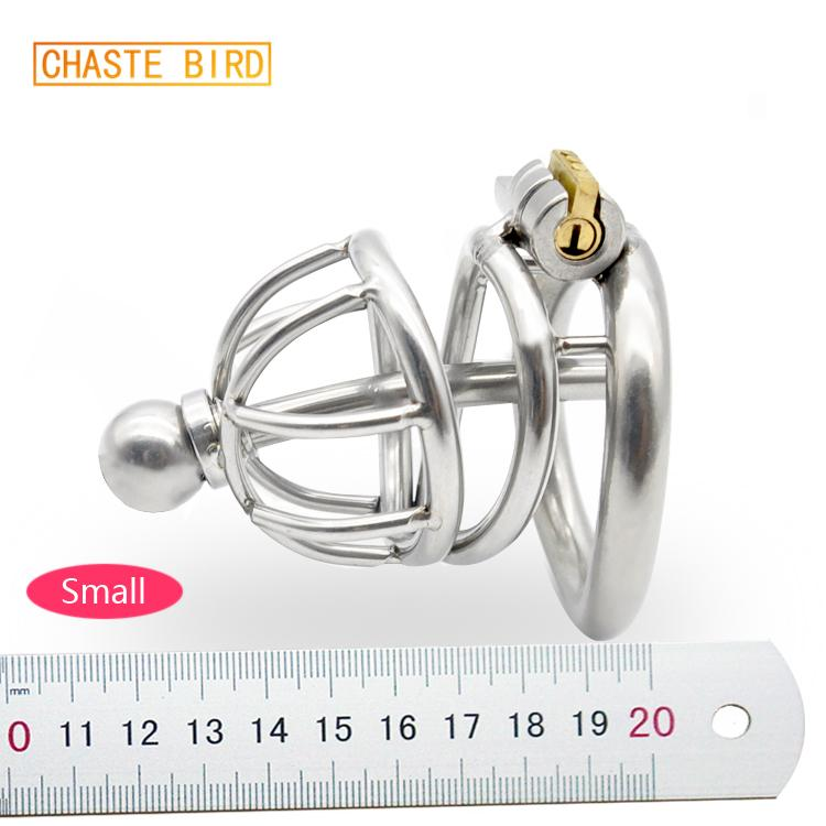 Chastity Cage Chastity Cage En Acier Inoxydable 304 Avec Cathéter Dispositif Cock Ring En Forme D'arc Avec Stealth Lock Sex Toy A227 Y19070602