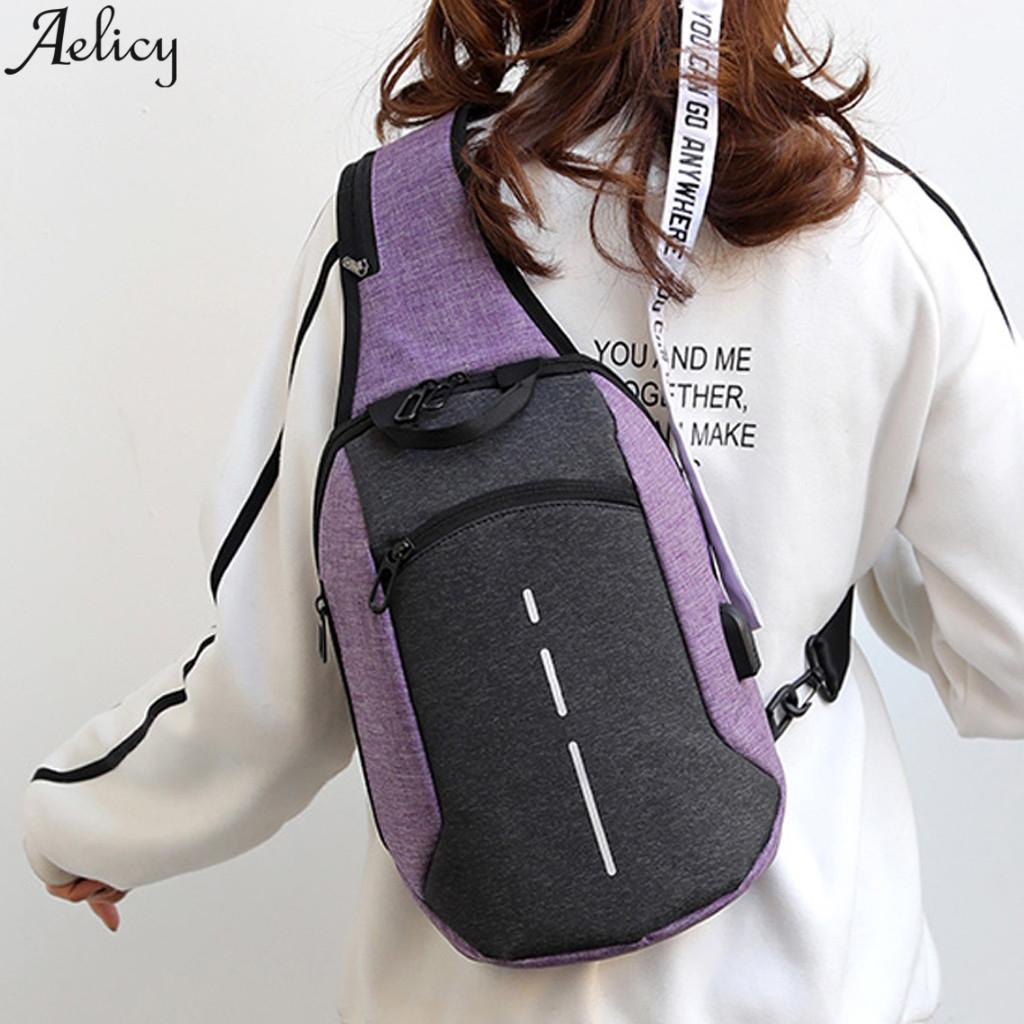 Aelicy Large Capacity Shoulder Crossbody Bag Unisex Versatile Zipper Messenger Messenger Criss-cross Oxford Material Bags Unisex