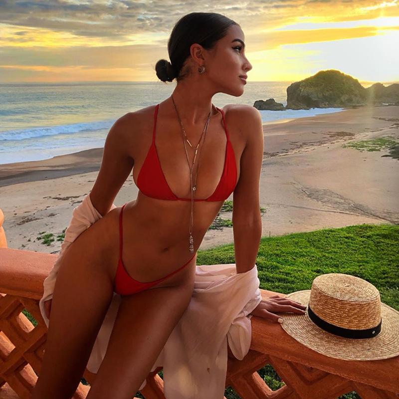 Yeni Kadın Seksi Bikini Mayo İki Parça Yüzme Suit Kadın