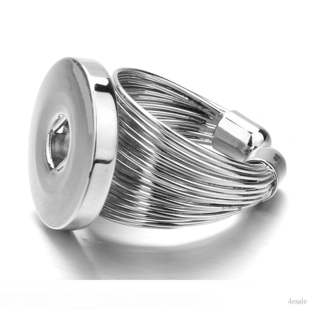 خاتم زنجبيل قابل للتبديل قابل للتبديل 18 ملم جديد سناب تشارمز زر المجوهرات بالجملة