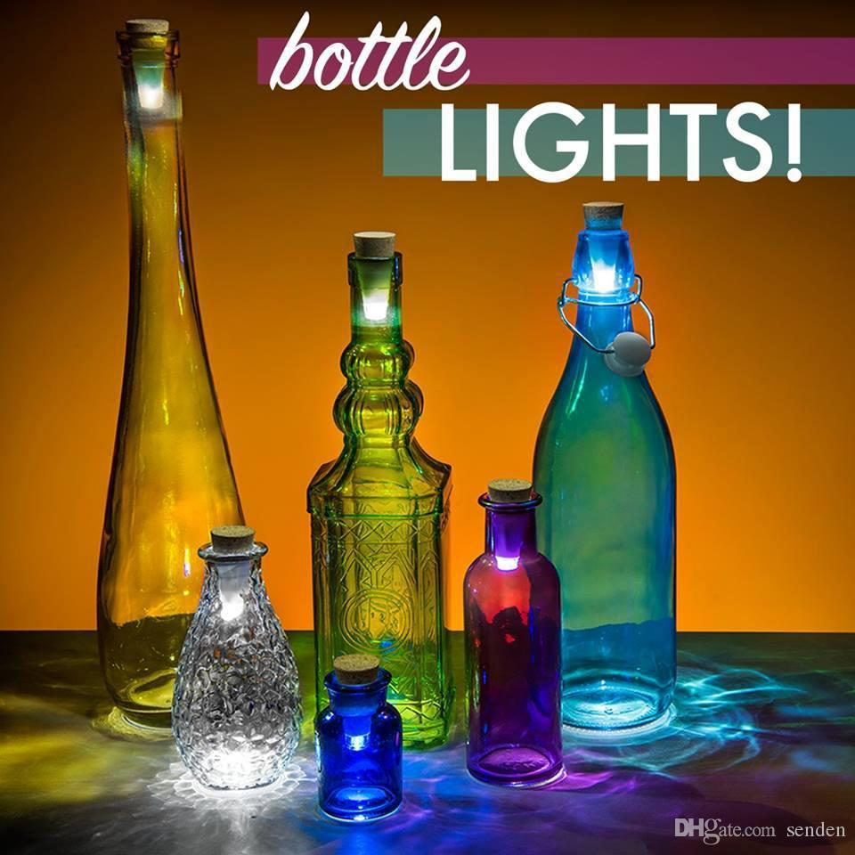 أصالة متعدد الألوان الخفيفة كورك على شكل قابلة للشحن USB زجاجة الضوء ، زجاجة الصمام مصباح الفلين المكونات زجاجة النبيذ ليلة الخفيفة من الأبيض / متعدد الألوان