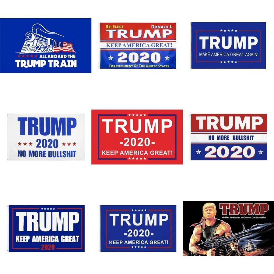 Trump 2020 Drapeaux Président américain Drapeau Élection Joe Biden Bernie Sanders Andrew Yang 2020 Drapeaux Polyester Décor bannière 90 * 150cm # 362