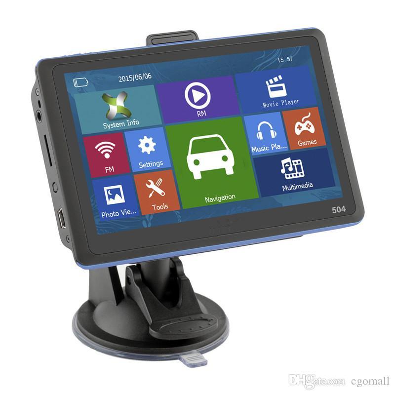 5'' GPS Navigator 8GB ROM Navigation System Speedcam Free 2D 3D Maps