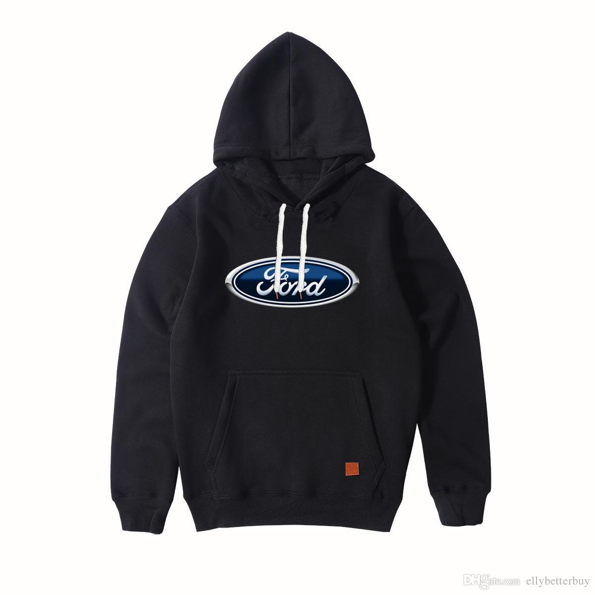 Yeni Moda Sıcak Ford Marka Otomobiller Logo Spor Kapüşonlular Erkek Uzun Kol Kazak Erkek Hoody kazak Açık giysiler Tops