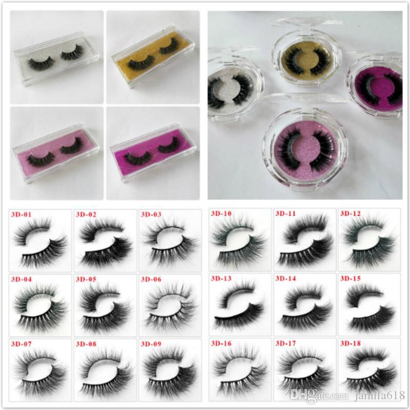 Hot Beauty Cosmetics 3D Mink Hair Lashes Natural Long Curl False Eyelashes 3D lashes Fake Eyelashes Make Up Eyelash Extension Tool 76 styles